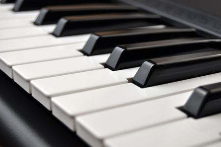 Closeup detail of a piano keyboard Stock Photo - 4111792
