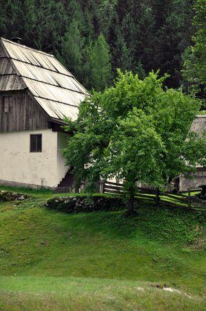 Alpine village in the Julian Alps. Trenta walley, Slovenia Stock Photo - 5158080