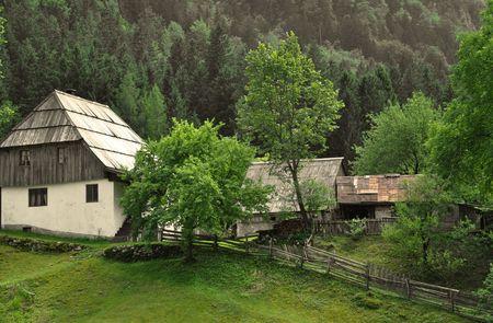 Alpine village in the Julian Alps. Trenta walley, Slovenia Stock Photo - 5158081