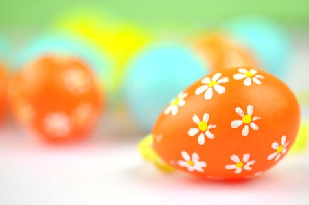 Lovely floral Easter eggs photo