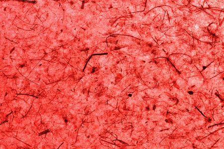 papier naturel: Papier naturelle � la main rouge Banque d'images