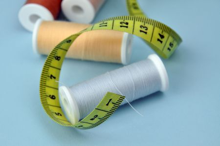 Threads and measuring tape Stock Photo - 6630482
