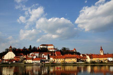 slovenia: Town by the river. Ptuj, Slovenia
