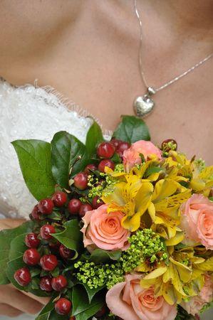 bruidsboeket: Bruid met een bruids boeket