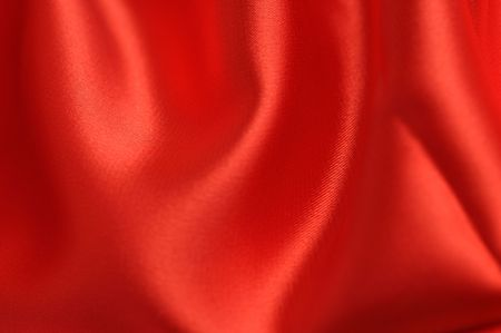 Smooth red satin photo