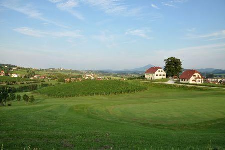 Beautiful summer farmland landscape. Škalce, Slovenske Konjice, Slovenia Stock Photo - 7634899