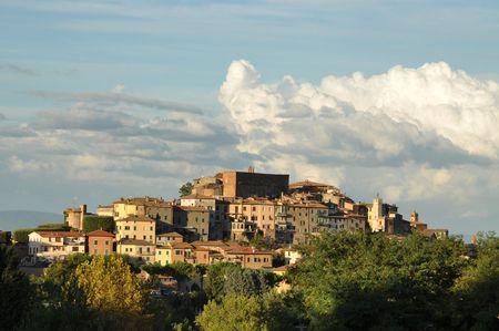 Chianciano Terme at sunset. Tuscany, Italy Stock Photo - 7963404