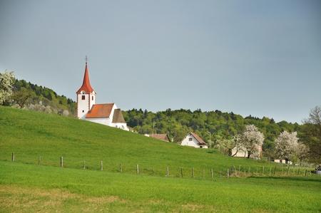Spring landscape in Slovenia Stock Photo - 9484436
