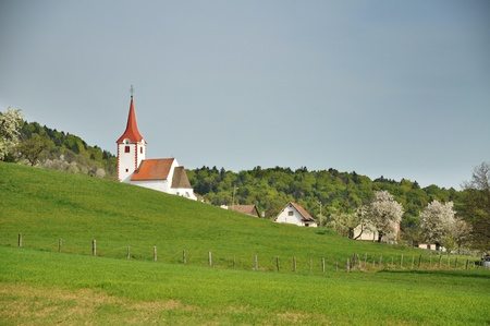 Spring landscape in Slovenia Stock Photo - 9484436
