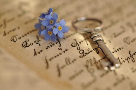 Jahrgang Key und vergiss auf ein altes Tagebuch