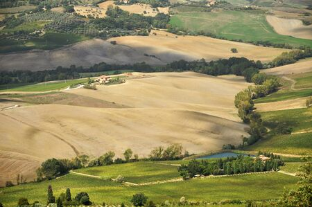 val dorcia: Typical Tuscan landscape, Val DOrcia, Italy