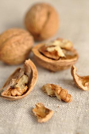 hard core: Freshly cracked and whole walnuts