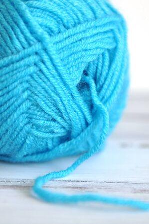 gomitoli di lana: Sfera blu di filati di cotone
