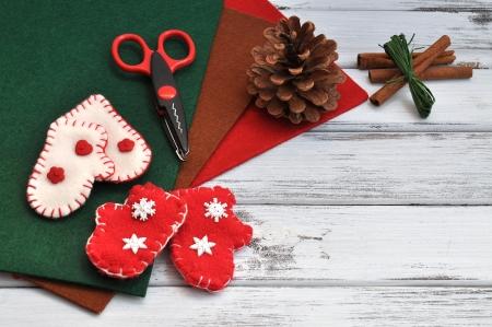 Weihnachten Basteln und Ornamente Lizenzfreie Bilder