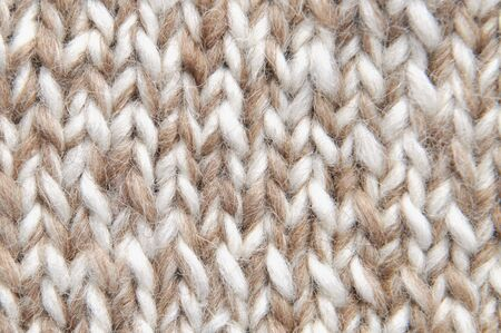 plain stitch: Brown knit background in full frame