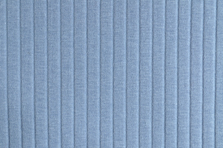 ribbed: Blue ribbed knit fabric in full frame