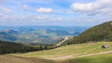 View of Bucovina region in Romania. Near Pietrele Doamnei. I have taken this photo in April 2018 during my visit of Romania