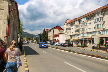 Gura Humorului city view.  I have taken this photo in April 2018 during my visit of Romania