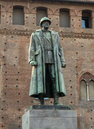Emanuele Filiberto Duca dAosta monument on piazza Castelo. I have taken this photo in July 2018 during my visit to Torino