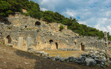 Ruins of the ancient city of Arykanda. Near Antalya, Turkey. The picture was taken in Turkey in July of 2018