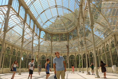 Inside the Palacio de Cristal, in Madrid, Spain. July 2018
