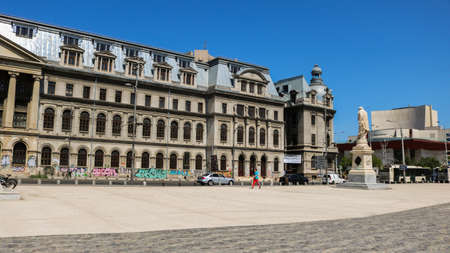 University's Square and the University of Bucharest. Shoot in April 2018, Romania. I have taken this photo in April 2018 during my visit of Romania