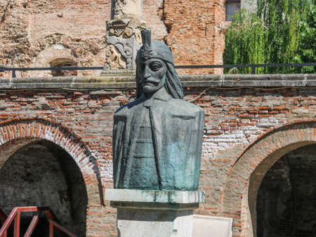 Statue of Vlad Tepes in Bucharest, Romania. I have taken this photo in April 2018 during my visit of Romania