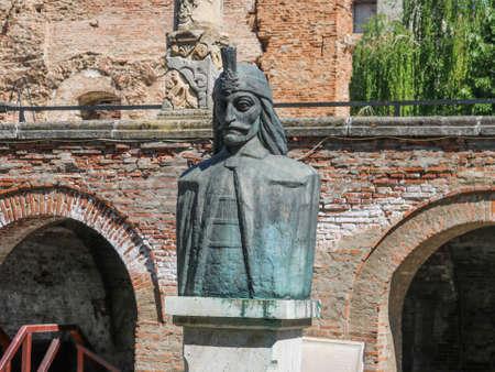 Statue von Vlad Tepes in Bukarest, Rumänien. Dieses Foto habe ich im April 2018 während meines Besuchs in Rumänien gemacht