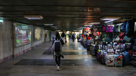 Picture of Bucharest metro underground with shops. I have taken this photo in April 2018 during my visit of Romania Editöryel