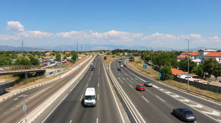 View on the highway from El Goloso. This picture was taken in Madrid in July 2018