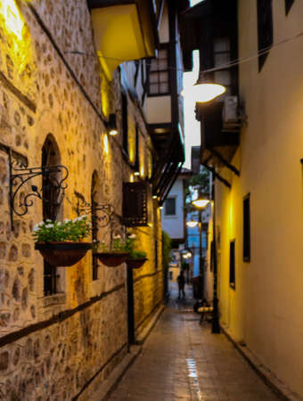 Back street in old town, Kaleici, Antalya Turkey.. The picture was taken in July of 2018 Editöryel