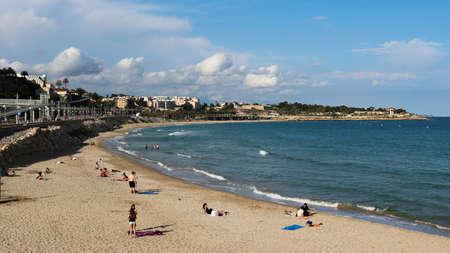 Platja del Miracle beach in Tarragona, June 2018.