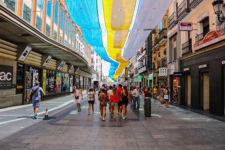 Downtown Madrid center during Summer of 2018. July 2018