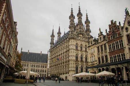 Leuven, Belgium, 20/10/2019: Old Town center in the City of Leuven i Belgium.