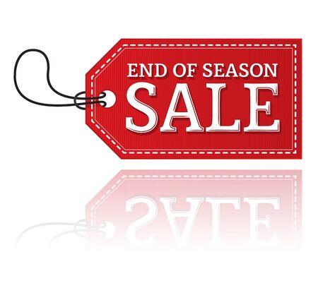시즌 판매 라벨의 끝