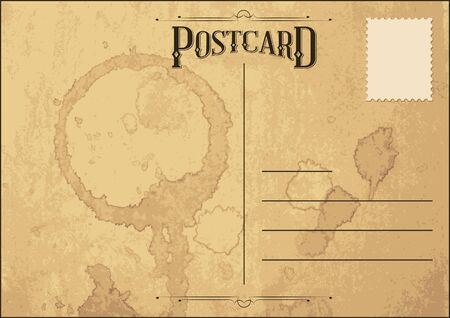 Postal Vintage Antiguo Foto de archivo - 18473723