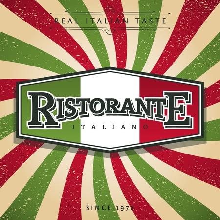 italien flagge: Italian Restaurant Banner Illustration