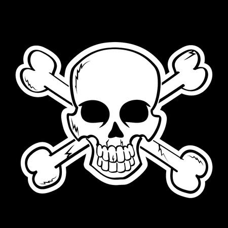 Skull with Cossbones Illustration