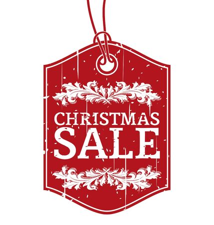 Vintage  Christmas Sale  Label