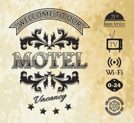 motel: Vintage Motel Banner