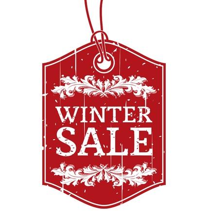 Winter Sale Vintage Label