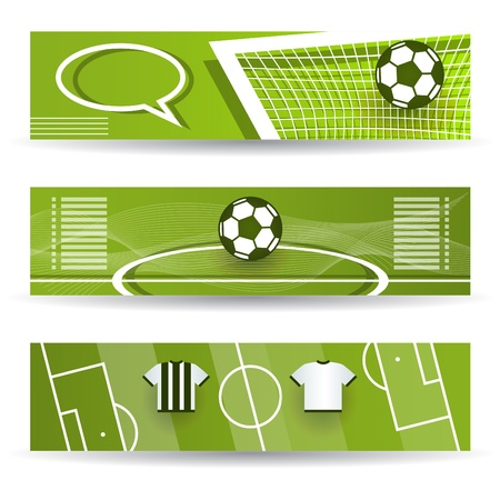 Soccer - Football Web Banners Stock Vector - 18473718