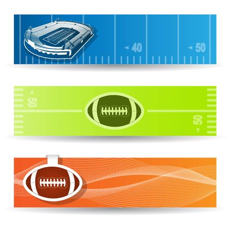American Football Web Banners Vector