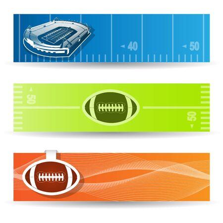 american football stadium: American Football Web Banners