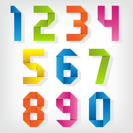 ハート 折り紙 数字 折り紙 : m.123rf.com
