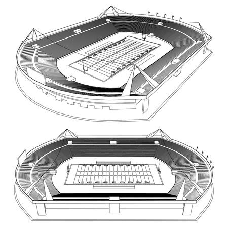 American Football Stadium Stock Vector - 18473721
