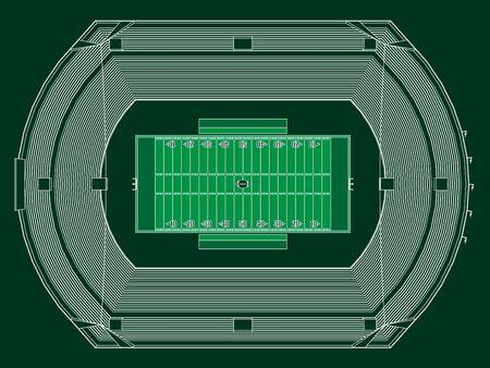 American Football Stadium Stock Vector - 18473682