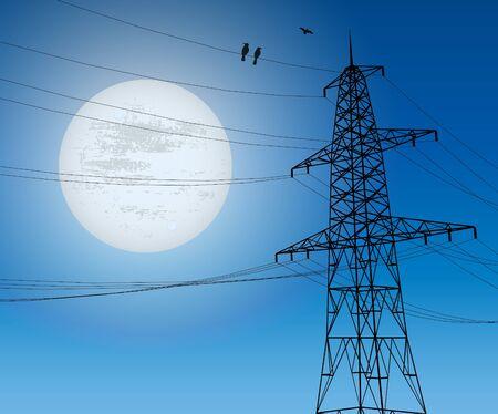 electricity pylon: Electricity Pylon Illustration