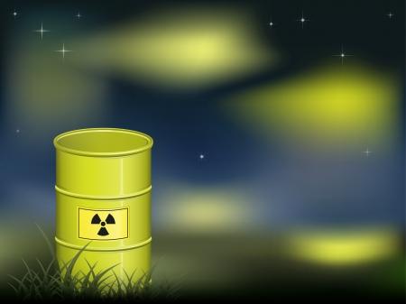 desechos toxicos: Barril radiactivo