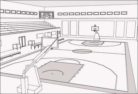 sports hall: Basketball court
